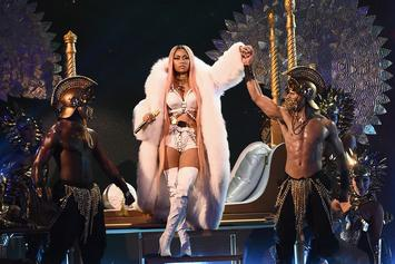 Nicki Minaj Brings Out 2 Chainz & Performs Medley Of Records At NBA Awards