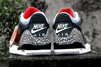 """2018 """"Black Cement"""" Air Jordan 3 To Release On MJ's Birthday: First Look"""
