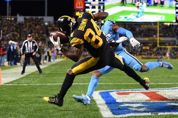 Steelers' Antonio Brown Goes Off In Blowout Win Over Titans