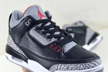 "Air Jordan 3 ""Black Cement"" Returning For NBA All-Star Weekend"