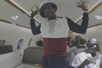 "Ralo Flosses His Cash On A Private Jet In His New Video ""A Thousand Dollars"""