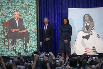 Barack & Michelle Obama Paintings Unveiled At Portrait Gallery