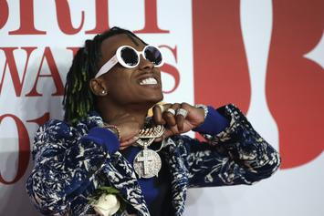 """Rich The Kid Smashes A Lamborghini Performing """"New Freezer"""" With Kendrick Lamar"""
