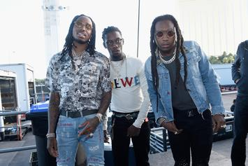 "Migos Bust Out ""The Dab"" For Hilarious NASCAR Interview"
