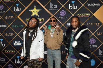 Migos & The Game Spotted In The Studio