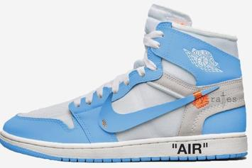 "Off-White x Air Jordan 1 ""Dark Powder Blue"" Drops Next Month"