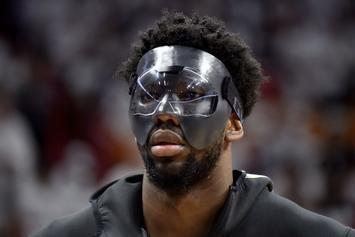 Miami Heat Forward Justise Winslow Tries Breaking Embiid's Mask