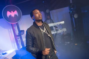 Meek Mill Hops On A Helicopter To Head To 76ers Game