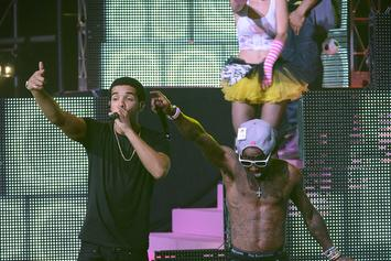 "Drake And Lil Wayne Debut ""Grindin'"" Live At First ""Drake Vs. Lil Wayne"" Concert"