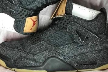 Levi's x Air Jordan 4 Releasing In Black Colorway