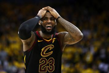 New Video: LeBron's Full Reaction To Jr Smith's Game 1 Blunder