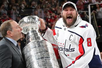 Washington Capitals Party With Stanley Cup At Vegas Nightclub