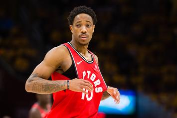 """DeMar DeRozan Coldly Rejects Lakers' Fan Who Tries To Recruit Him: """"Hell No"""""""