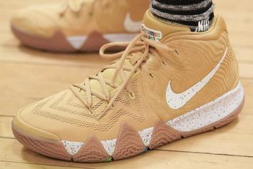 "Nike Kyrie 4 ""Cinnamon Toast Crunch"" Revealed In Detail"