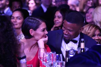 Jamie Foxx &  Katie Holmes Flaunt Their 5-Year Romance With Cute Beach Romp