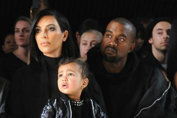 "Kanye West Poses With North & Saint For Harper Bazaar's ""Icons"" Issue"