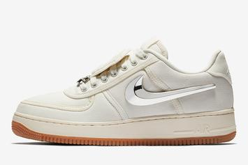 "Travis Scott x Nike Air Force 1 ""Sail"" Confirmed For Next Week"
