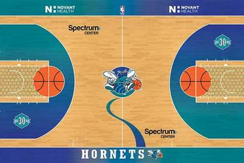 """Charlotte Hornets Unveil Retro """"Classic Nights"""" Court For Select Games"""