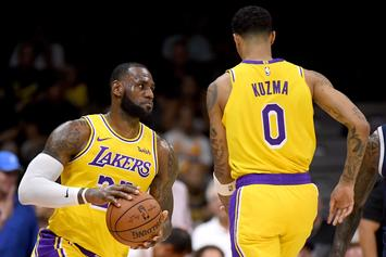 LeBron James Makes His Los Angeles Lakers Debut Against The Nuggets