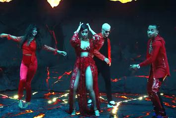 "Cardi B, Selena Gomez & Ozuna Join DJ Snake In A Volcanic-Video For ""Taki Taki"""