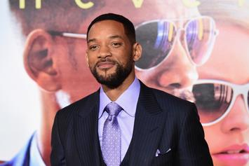 """Will Smith Shares First """"Aladdin"""" Poster, Teases Role As Genie"""