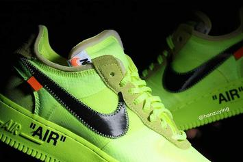 """Off-White x Nike Air Force 1 Low """"Volt"""" Revealed In Detail"""