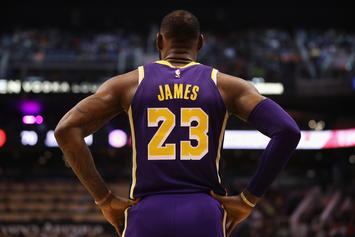 LeBron James Notches Lakers' First Home Win With Kobe Bryant Watching Over