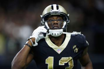 Saints' Michael Thomas Channels Joe Horn With Cellphone TD Celebration