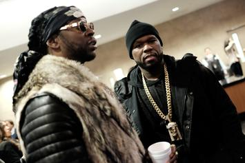 50 Cent Roasts 2 Chainz' Custom Versace Sneakers