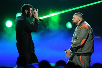 Drake & DJ Khaled Rock Near-Matching Outfits In Backstage Picture