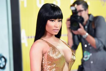 "Nicki Minaj Flaunts Massive ""Engagement"" Ring While Posing With Unnamed Man"