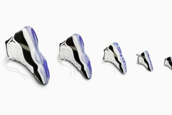 "Air Jordan 11 ""Concord"" Releasing In Sizes For The Whole Family"