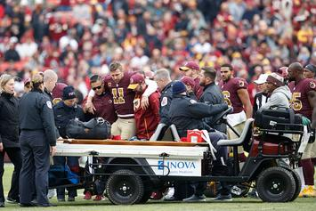 "Redskins' Alex Smith Battling ""Career-Threatening"" Infections In Broken Leg"