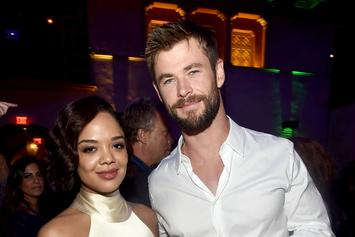 "Chris Hemsworth & Tessa Thompson Post New Photos Of ""Men In Black International"""