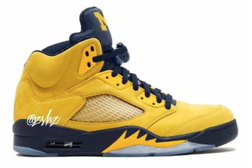 "Air Jordan 5 ""Michigan"" Headed To Retailers In 2019"