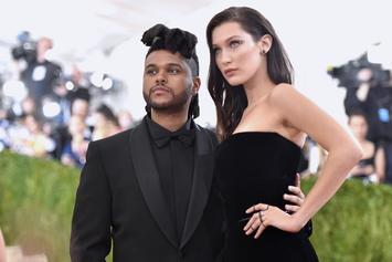 The Weeknd Shares Low-Key Photo Of Bella Hadid In Tiny Shorts & A Bra