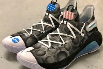 """Steph Curry Auctioning """"Moon Landing"""" Curry 6s For STEM Education"""