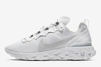 Nike React Element 55 Releasing In All-White Colorway