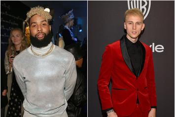 Machine Gun Kelly Spotted In The Studio With Odell Beckham Jr.