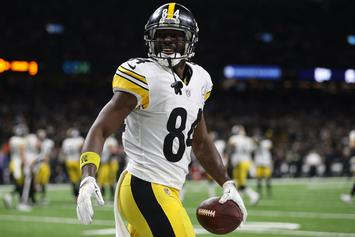 Antonio Brown Takes A Thrashing During Dodgeball Game With Kids