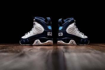 "Air Jordan 9 ""Pearl Blue"" Debuts This Weekend: Official Images"