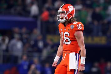 Clemson QB Trevor Lawrence Bodies Opponent In Intramural Hoops