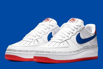"Nike Air Force 1 Low To Release In Overbranded ""Red, Blue, And White"" Colorway"