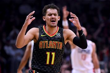 Trae Young Ejected From Game After Savagely Staring Down Kris Dunn
