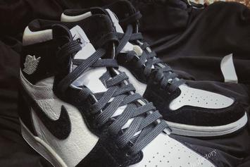 "Detailed Images Of The Women's Air Jordan 1 ""Panda"" Colorway"