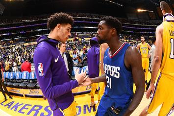 """Patrick Beverley Describes Lonzo Ball In One Word: """"Easy"""""""