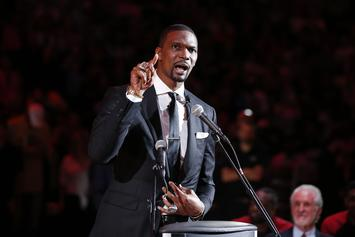 Chris Bosh Dazzles With Hilarious And Emotional Jersey Retirement Speech