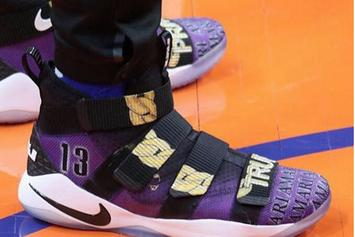 Tristan Thompson Wears Custom Shoes Inspired By His Kids & Brother
