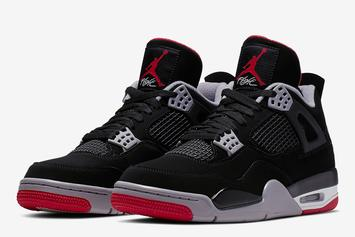 "Air Jordan 4 ""Bred"" Receives Surprise SNKRS Drop, L's Immediately Taken"