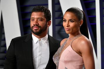 """Russell Wilson Accompanied By Ciara & Kids For """"Family Signing Day"""""""